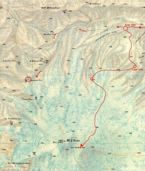 Elbrus From North Days Programs Аll Projects Of Summits Club - Mt elbrus map